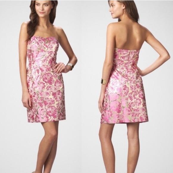 Lilly Pulitzer Raya Pink and Gold Dress
